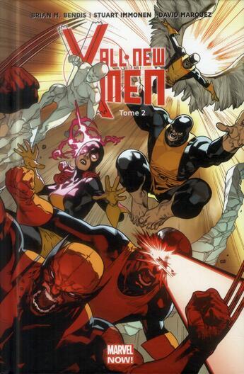 Couverture du livre « All new X-Men t.2 » de Brian Michael Bendis et Stuart Immonen et David Marquez aux éditions Panini