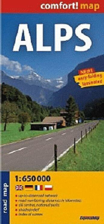 Couverture du livre « Alps 1/650.000 » de  aux éditions Expressmap