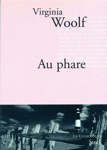 Couverture du livre « Au phare » de Woolf-V aux éditions Stock