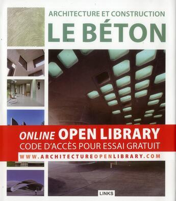 Couverture du livre « Architecture et construction ; le béton » de Dimitris Kottas aux éditions Links
