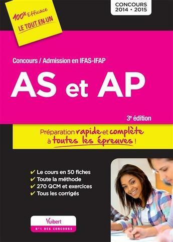 Couverture du livre « Concours AS et AP ; admission en ifap (3e édition) » de Collectif aux éditions Vuibert