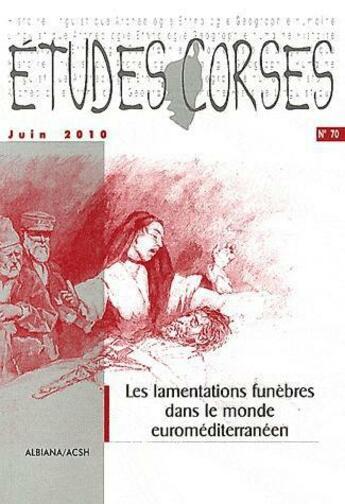 Couverture du livre « Etudes corses n 70 » de  aux éditions Albiana