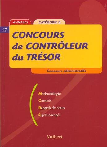 Couverture du livre « Concours De Controleur Du Tresor » de Collectif aux éditions Vuibert
