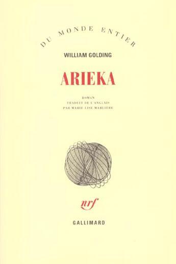 Couverture du livre « Arieka » de Golding William aux éditions Gallimard