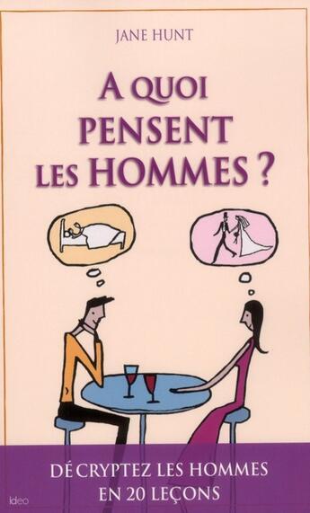 Couverture du livre « à quoi pensent les hommes ? » de Jane Hunt aux éditions Ideo