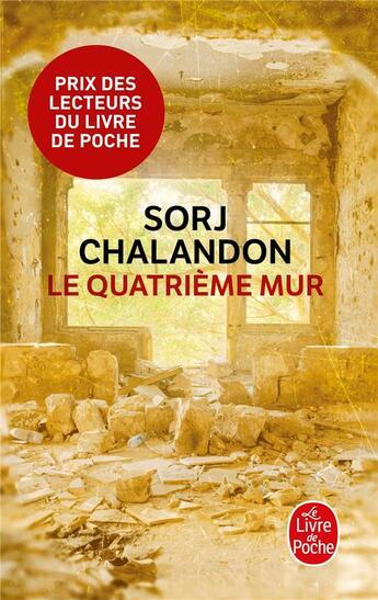 Couverture du livre « Le quatrième mur » de Sorj Chalandon aux éditions Lgf