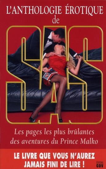 Couverture du livre « L'anthologie érotique de SAS » de Gerard De Villiers aux éditions Malko