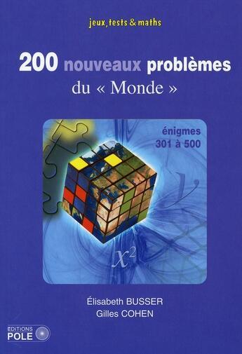 Couverture du livre « 200 nouveaux problèmes du