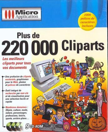 Couverture du livre « 1. Plus De 220 000 Cliparts » de Collectif aux éditions Micro Application