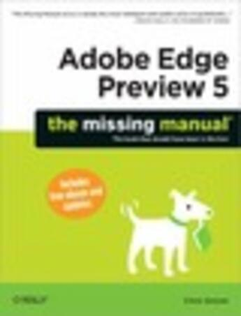 Couverture du livre « Adobe Edge Preview 5: The Missing Manual » de Chris Grover aux éditions O'reilly Media
