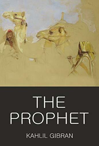 Couverture du livre « The prophet » de Khalil Gibran aux éditions Wordsworth