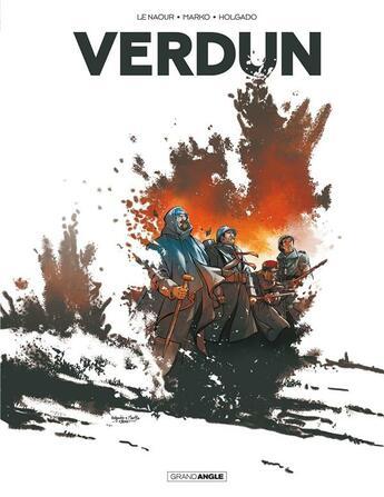 Couverture du livre « Verdun ; INTEGRALE T.1 A T.3 » de Marko et Jean-Yves Le Naour et Holgado aux éditions Bamboo