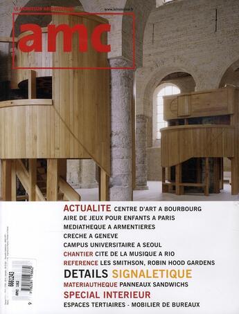 Couverture du livre « Amc N 182 » de Xxx aux éditions Le Moniteur