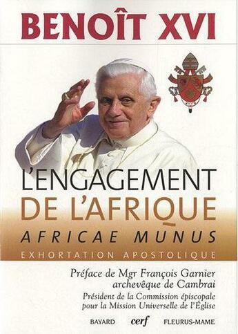 Couverture du livre « Africae Munus » de Benoit Xvi aux éditions Cerf
