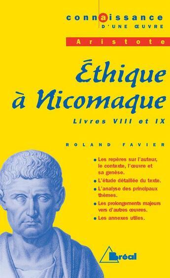 Couverture du livre « Co ethique a nicomaque - prepa » de  aux éditions Breal