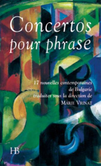 Couverture du livre « Concertos pour phrase » de Collectif aux éditions Le Mot Fou
