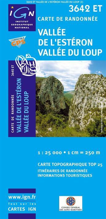 Couverture du livre « 3642et Vallee De L'Esteron/Vallee Du Loup » de Collectif Ign aux éditions Ign