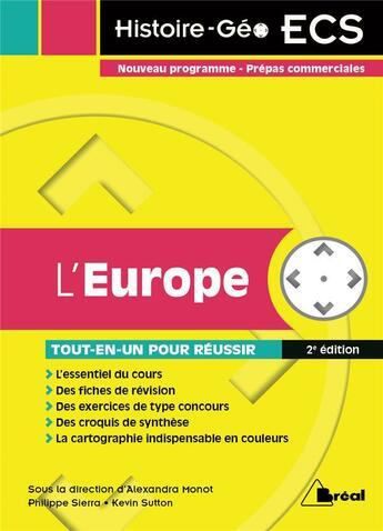 Couverture du livre « Europe (L') » de Monot (Dir) Alexandr aux éditions Breal