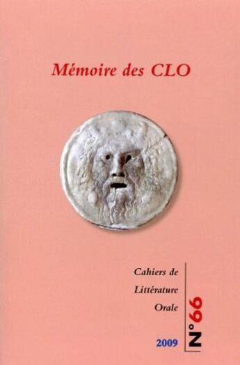Couverture du livre « CAHIERS DE LITTERATURE ORALE » de Cecile Leguy aux éditions Maison Des Sciences De L'homme