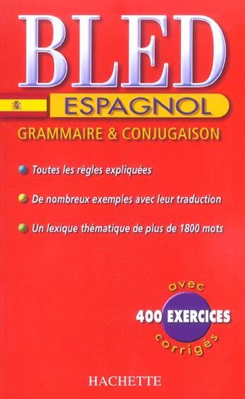 Couverture du livre « Cahiers Bled (édition 2004) » de A Gonzalez et M Sanchez aux éditions Hachette Education