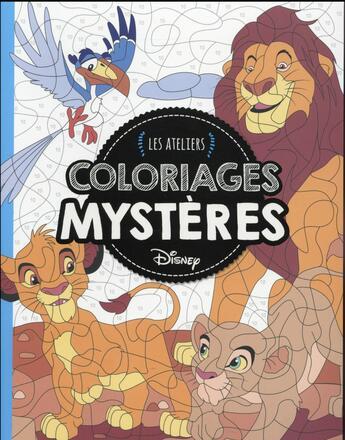 Couverture du livre « Animaux ; coloriages mystères » de Collectif aux éditions Disney Hachette