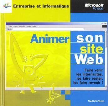 Couverture du livre « Animer Son Site Web » de Plonton aux éditions Dunod
