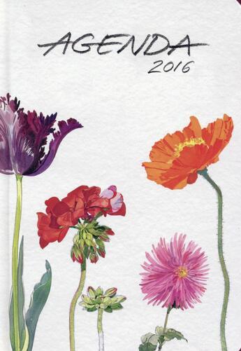 Couverture du livre « Agenda 2016 ; fleurs ; petit format » de Fabrice Moireau aux éditions Pacifique