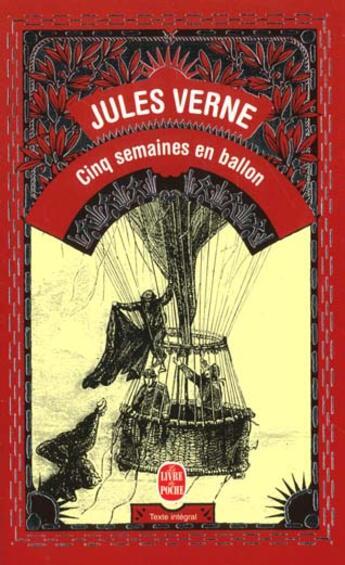 Couverture du livre « Cinq semaines en ballon » de Jules Verne aux éditions Lgf