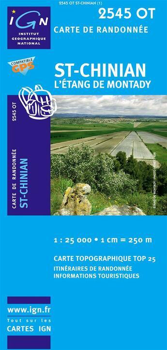 Couverture du livre « 2545ot St-Chinian » de Collectif Ign aux éditions Ign
