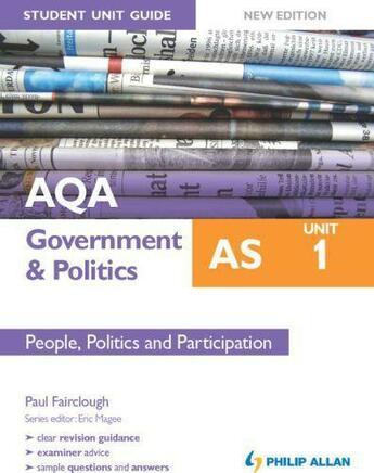 Couverture du livre « AQA AS Government & Politics Student Unit Guide New Edition: Unit 2 Go » de Paul Fairclough aux éditions Hodder Education Digital