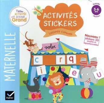 Couverture du livre « Activites stickers - lettres cursives grande section » de Van Tilbeurgh M-H. aux éditions Hatier