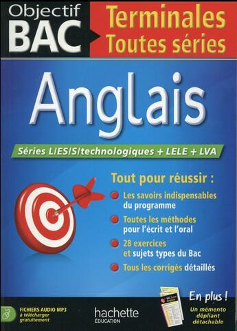 Couverture du livre « Anglais ; terminale toutes séries » de Katia Fontaine aux éditions Hachette Education