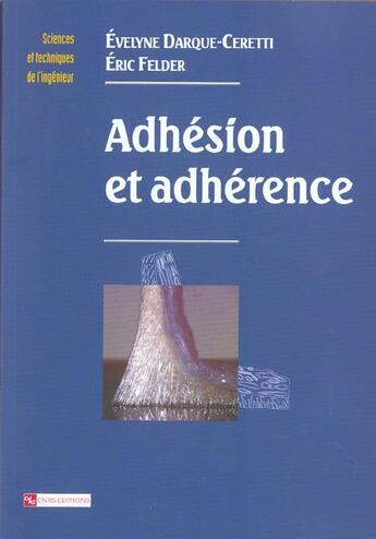 Couverture du livre « Adhesion et adherence » de Collectif aux éditions Cnrs