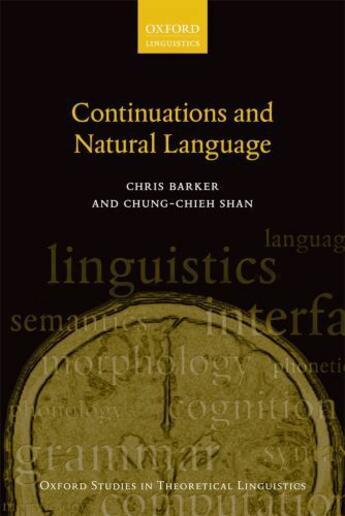 Couverture du livre « Continuations and Natural Language » de Shan Chung-Chieh aux éditions Oup Oxford