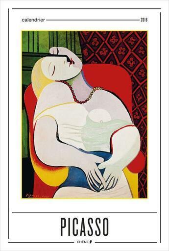 Couverture du livre « Calendrier mural ; Picasso (édition 2016) » de Collectif aux éditions Chene