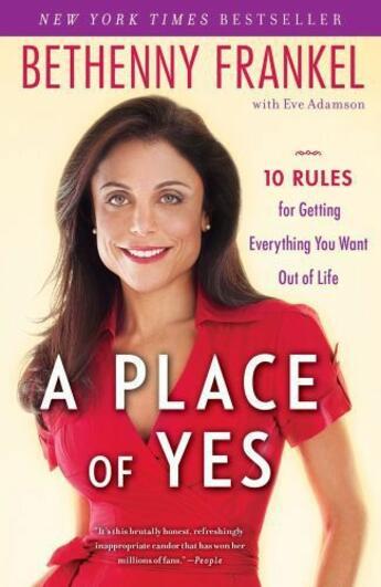 Couverture du livre « A Place of Yes » de Frankel Bethenny aux éditions Touchstone