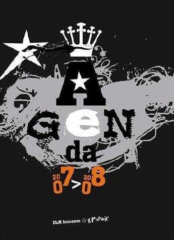 Couverture du livre « Agenda 2007-2008 ; couverture noire » de Collectif aux éditions La Martiniere Jeunesse