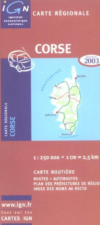 Couverture du livre « *Corse 2004 » de Collectif Ign aux éditions Ign