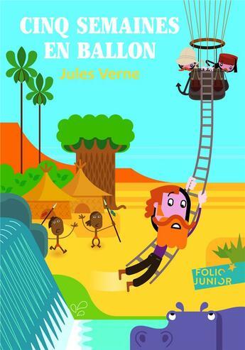 Couverture du livre « Cinq semaines en ballon » de Jules Verne aux éditions Gallimard-jeunesse
