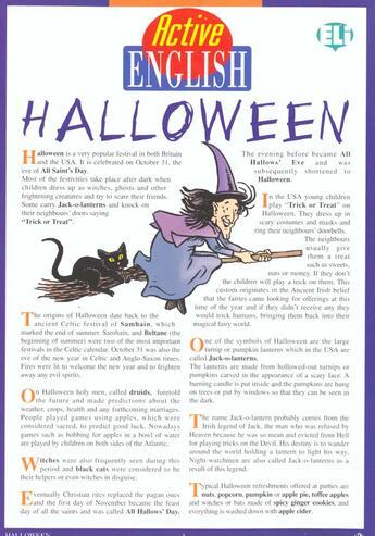 Couverture du livre « Active English Halloween » de Collectif aux éditions Eli