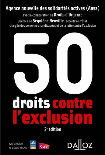 Couverture du livre « 50 droits contre l'exclusion » de Collectif aux éditions Dalloz
