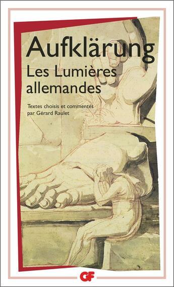 Couverture du livre « Aufklärung ; les lumières allemandes » de Collectif aux éditions Flammarion