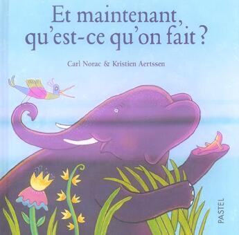 Couverture du livre « Et Maintenant Qu Est Ce Qu On Fait » de Aertssen Kristien / aux éditions Ecole Des Loisirs
