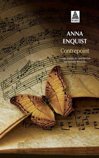 Couverture du livre « Contrepoint » de Anna Enquist aux éditions Actes Sud