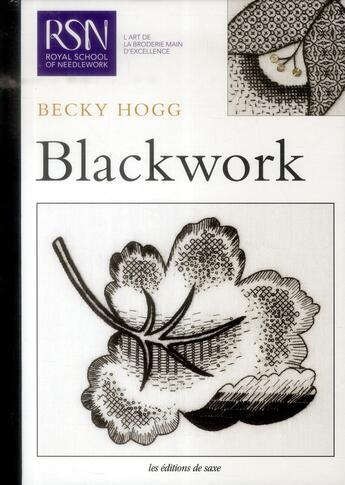 Couverture du livre « Blackwork » de Becky Hogg aux éditions De Saxe