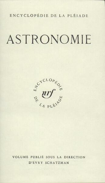Couverture du livre « Astronomie » de Collectif aux éditions Gallimard