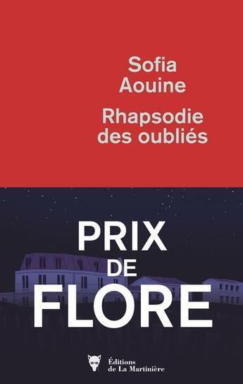 Couverture du livre « Rhapsodie des oubliés » de Sofia Aouine aux éditions La Martiniere