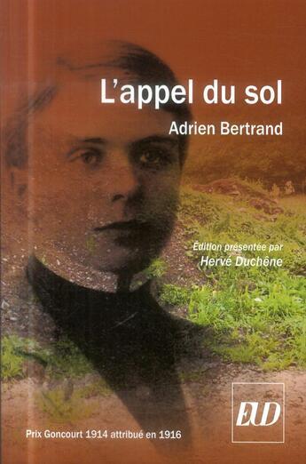 Couverture du livre « Appel Du Sol » de Adrien Bertrand aux éditions Pu De Dijon