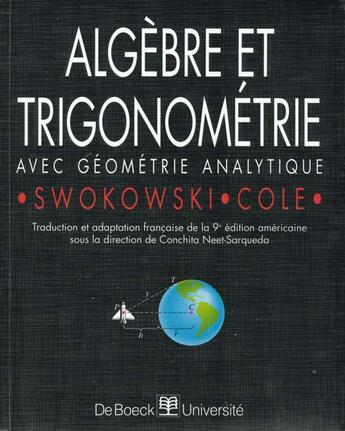 Couverture du livre « Algebre Et Trigonometrie » de Swokowski aux éditions De Boeck