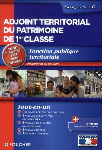 Couverture du livre « Adjoint territorial du patrimoine » de Anne Ducastel aux éditions Foucher